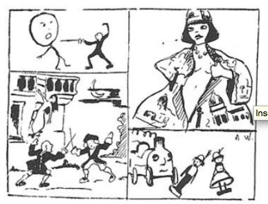 caricaturediscoursfuturiste1910-Warnod-Comoedia